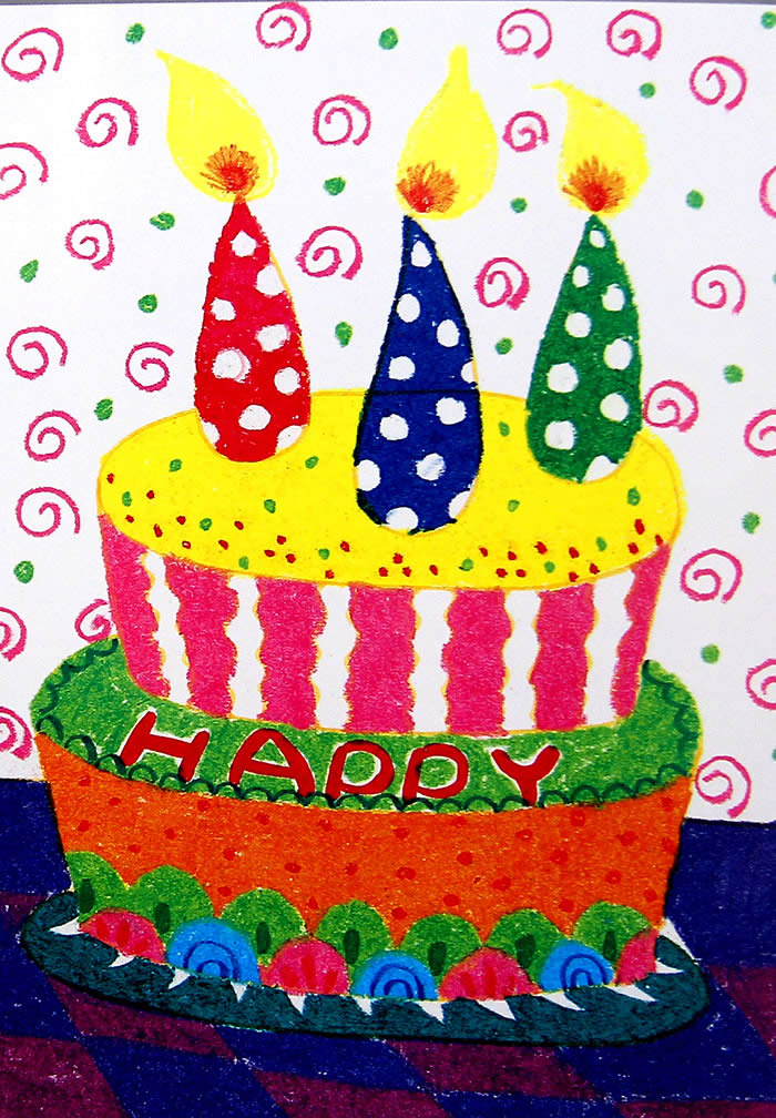 生日蛋糕简笔画_生日蛋糕图片欣赏_生日蛋糕儿童画画