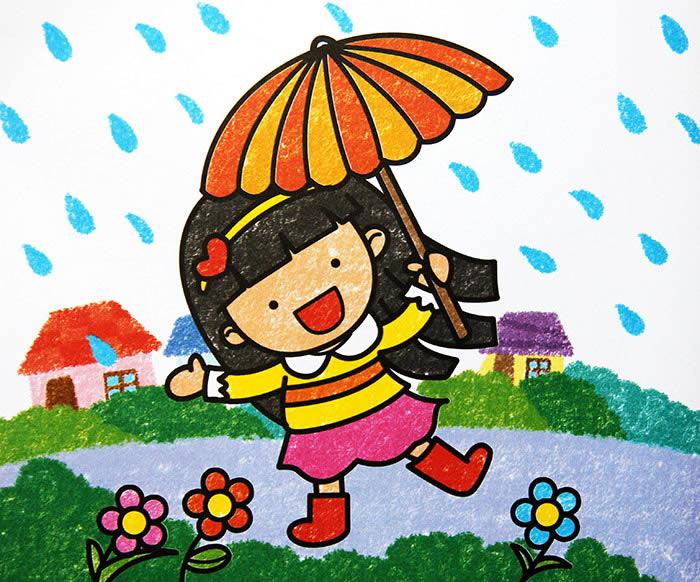 漂亮的小伞简笔画 漂亮的小伞图片欣赏 漂亮的小伞儿童画画作品