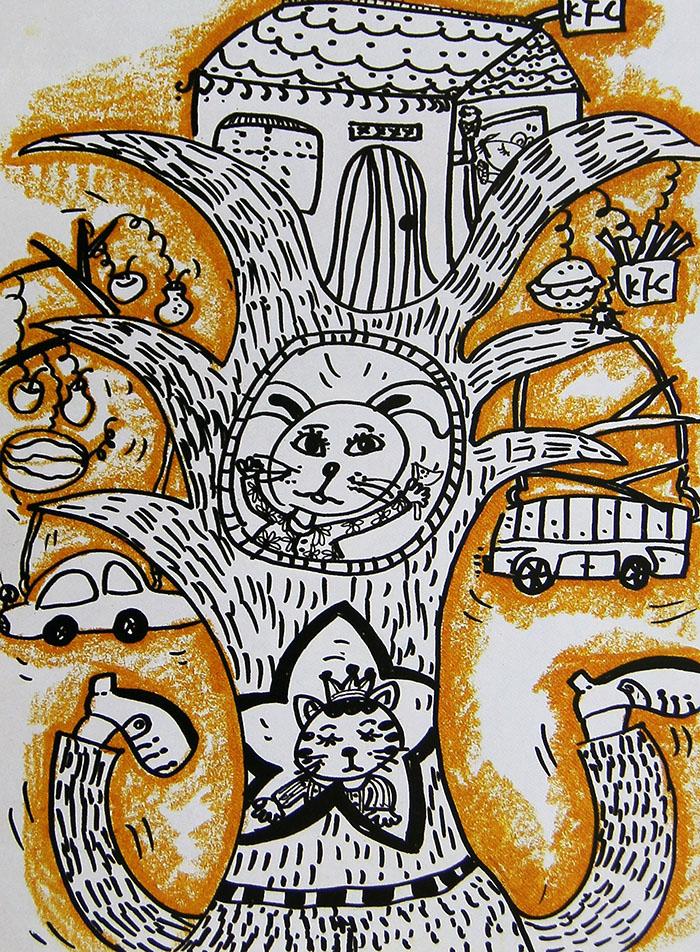 空中楼阁简笔画 空中楼阁图片欣赏 空中楼阁儿童画画作品