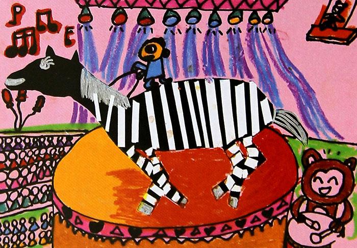小斑马快乐的一天简笔画 小斑马快乐的一天图片欣赏 小斑马快乐的一