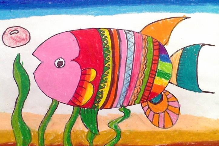 金鱼简笔画_金鱼图片欣赏_金鱼儿童画画作品-有伴网