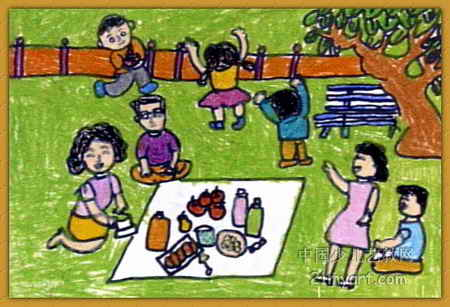 《野餐》简笔画_《野餐》图片欣赏_《野餐》儿童画画