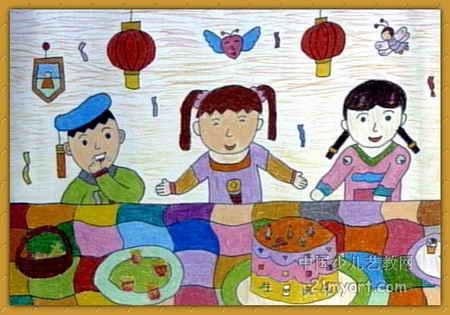 儿童画画 数字油画 《生日快乐》儿童画画