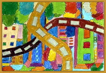 我们的城市 简笔画 我们的城市 图片欣赏 我们的城市 儿童画画作品