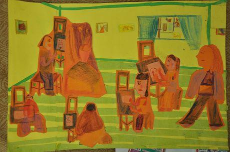 儿童画画 装饰画 我们的画室儿童画画