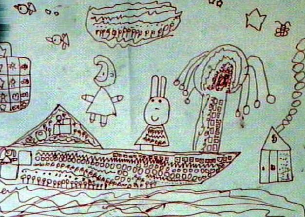 流动的家简笔画 流动的家图片欣赏 流动的家儿童画画作品