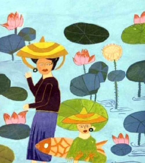江南女子简笔画_江南女子图片欣赏_江南女子儿童画画