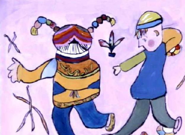 踢毽子简笔画_踢毽子图片欣赏_踢毽子儿童画画作品-有