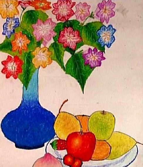 静物简笔画 静物图片欣赏 静物儿童画画作品