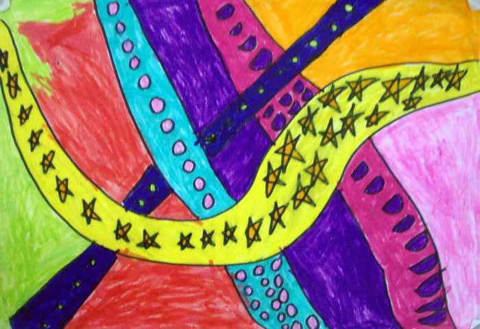 立交桥简笔画 立交桥图片欣赏 立交桥儿童画画作品