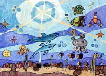 海底世界简笔画_海底世界图片欣赏