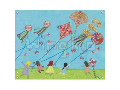 放风筝简笔画_放风筝图片欣赏_放风筝儿童画画作品-有