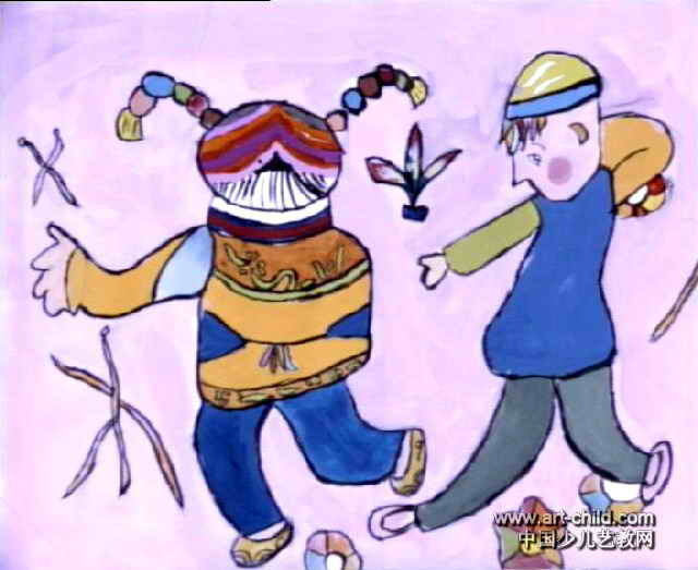 装饰画-《踢毯子》