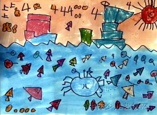 《海底世界》简笔画_《海底世界》图片欣赏