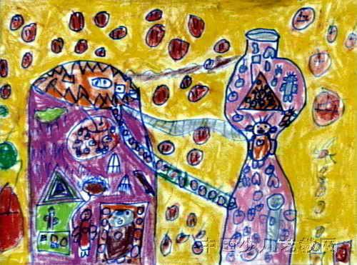 儿童画画 装饰画 《饮料瓶的世界》儿童画画