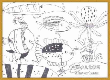 海底世界简笔画 海底世界图片欣赏