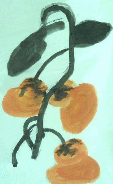 柿子简笔画_柿子图片欣赏