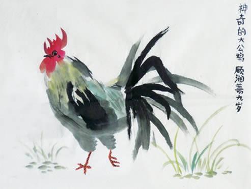 神奇的大公鸡简笔画_神奇的大公鸡图片欣赏
