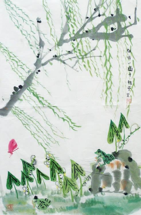 国风画简笔画 国风画图片欣赏 国风画儿童画画作品