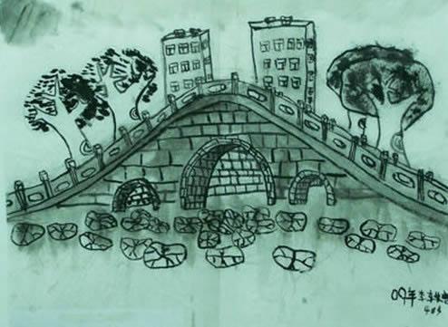 风景写生.桥简笔画 风景写生.桥图片欣赏 风景写生.桥儿童画画作品
