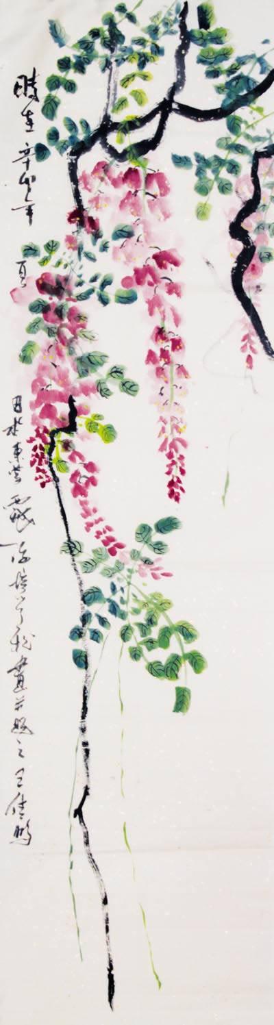 紫藤简笔画_紫藤图片欣赏_紫藤儿童画画作品-有伴网