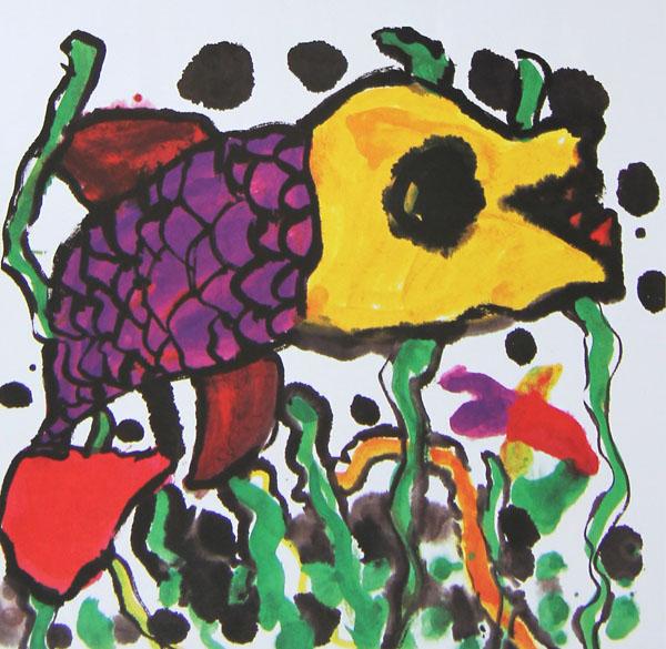 儿童画画 工笔画 大海里的鱼儿童画画