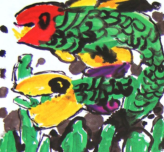 小河里的鱼儿简笔画 小河里的鱼儿图片欣赏 小河里的鱼儿儿童画画作品