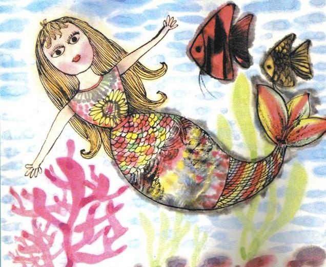 自由的美人鱼简笔画_自由的美人鱼图片欣赏
