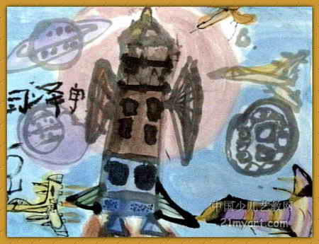 神舟八号 简笔画 神舟八号 图片欣赏 神舟八号 儿童画画作品