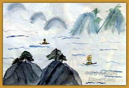 《千岛湖》简笔画_《千岛湖》图片欣赏_《千岛湖》-有