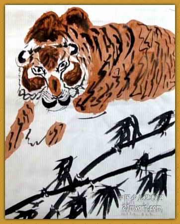 《虎》简笔画_《虎》图片欣赏_《虎》儿童画画作品-有