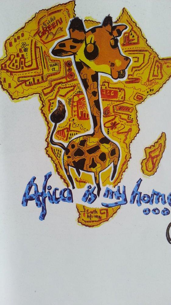 魅力非洲简笔画_魅力非洲图片欣赏