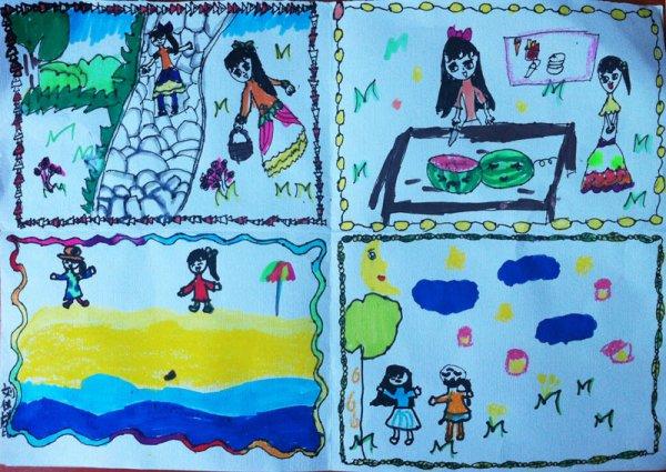 我的假期简笔画_我的假期图片欣赏_我的假期儿童画画