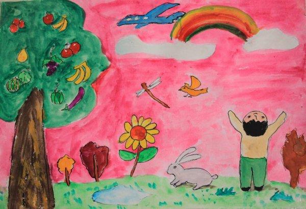 水粉画之飘香水果树 -飘香水果树简笔画 飘香水果树图片欣赏 飘香水果