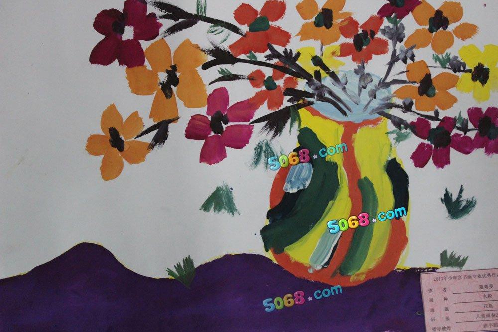 花瓶简笔画 花瓶图片欣赏 花瓶儿童画画作品
