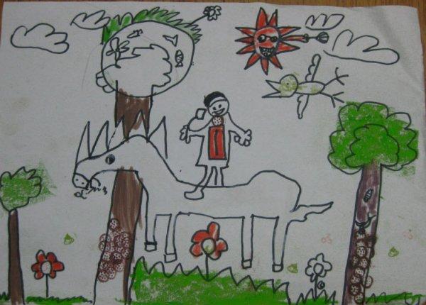 我要出游简笔画 我要出游图片欣赏 我要出游儿童画画作品