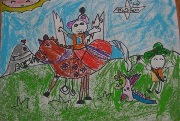 快乐出游简笔画 快乐出游图片欣赏 快乐出游儿童画画作品