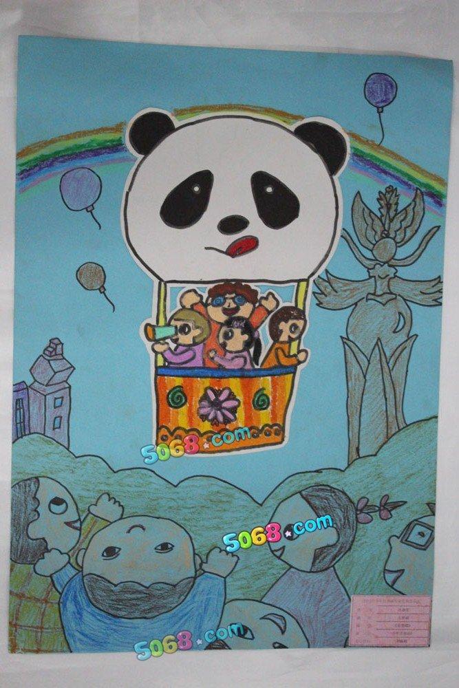 儿童画画 蜡笔画 看芜湖儿童画画