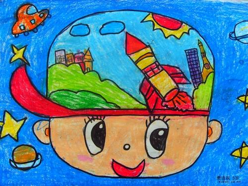 我们的地球简笔画 我们的地球图片欣赏 我们的地球儿童画画作品