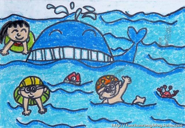 我和小伙伴的海边之旅简笔画 我和小伙伴的海边之旅图片欣赏 我和小