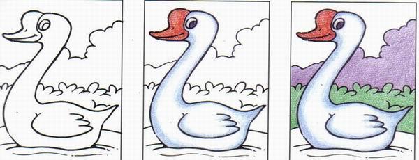 爱唱歌的小鸭子们简笔画_爱唱歌的小鸭子们图片欣赏_.