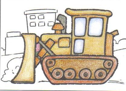 小心坦克的攻击图片欣赏 小心坦克的攻击儿童画画作品图片