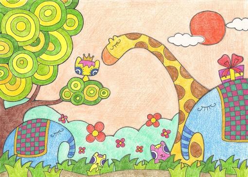 蜡笔画之可爱的青蛙王子 -可爱的青蛙王子简笔画 可爱的青蛙王子图片