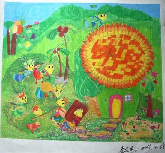 小虫子们在聚会简笔画 小虫子们在聚会图片欣赏 小虫子们在聚会儿童
