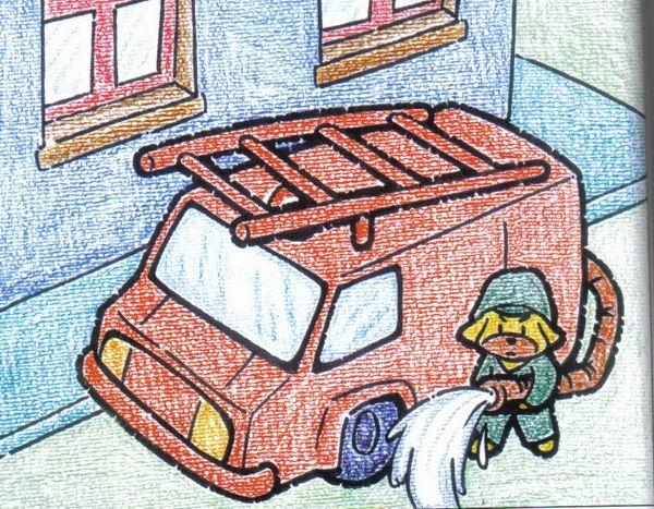 可爱的消防队员简笔画 可爱的消防队员图片欣赏 可爱的消防队员儿童