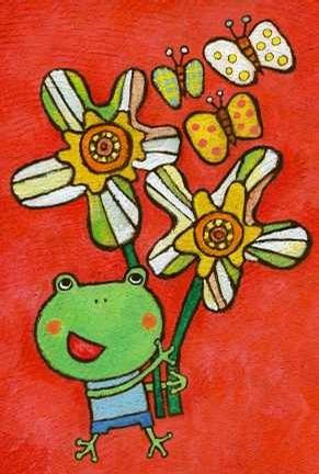 蜡笔画之青蛙小王子 -青蛙小王子简笔画 青蛙小王子图片欣赏 青蛙小王