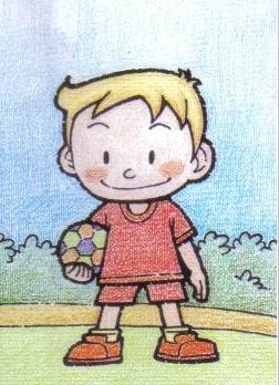 爱足球的小男孩简笔画 爱足球的小男孩图片欣赏 爱足球的小男孩儿童