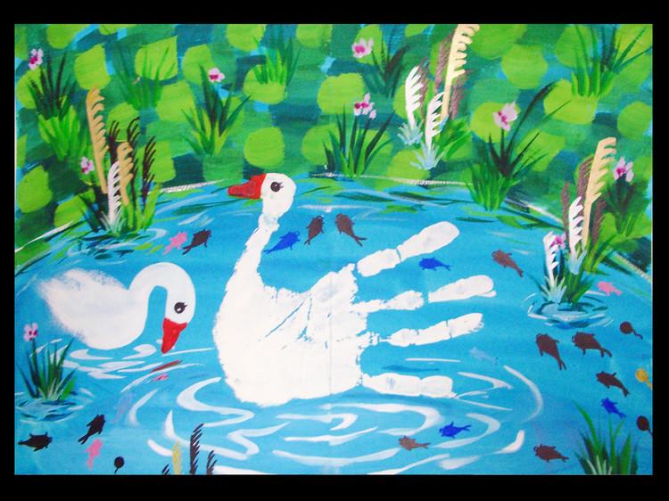 美丽的天鹅简笔画_美丽的天鹅图片欣赏