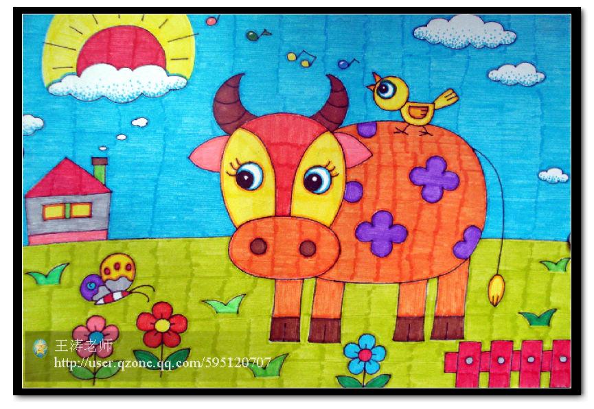 勤劳的牛简笔画_勤劳的牛图片欣赏_勤劳的牛儿童画画