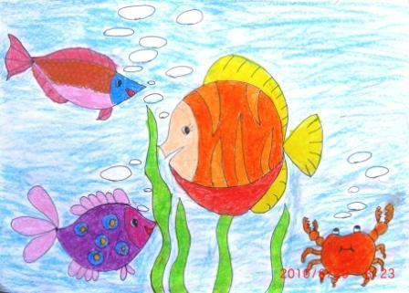 蜡笔画-海底世界